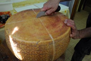 SIM_52 produzione del formaggio - il Grana Padano, incisione